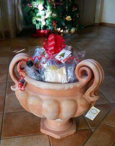 cesto natalizio - Terrecotte Ripabianca - Deruta